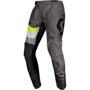 SCOTT 350 TRACK GREY/YELLOW ADULT PANTS (SIZE: 36)