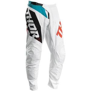THOR S20 SECTOR BLADE WHITE/AQUA PANTS (SIZE: YOUTH 28)