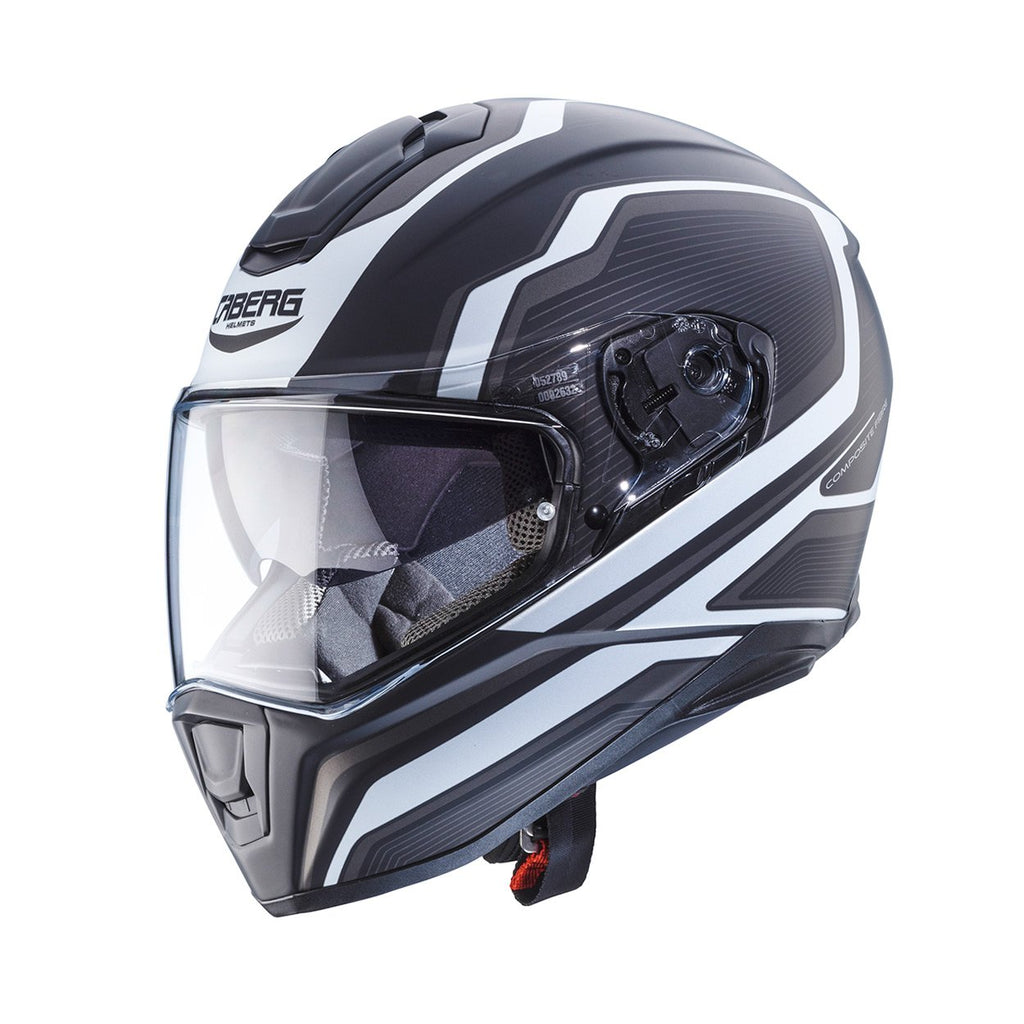 CABERG DRIFT SHADOW MATTE BLACK/WHITE/ANTHRACITE HELMET