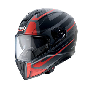 CABERG DRIFT SHADOW MATTE GUN METAL/RED/BLACK HELMET