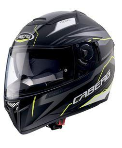 CABERG EGO QUARTZ MATTE BLACK/ANTHRACITE/YELLOW FLURO HELMET
