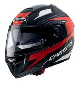 CABERG EGO QUARTZ MATTE BLACK RED/ANTHRACITE HELMET
