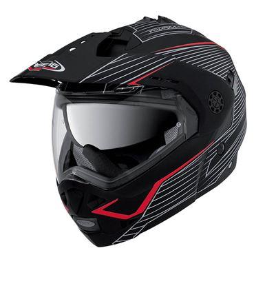 CABERG TOURMAX SONIC MATTE BLACK/RED HELMET