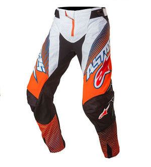 ALPINESTARS 2017 TECHSTAR FACTORY PANT ORANGE/DARK BLUE (SIZE: 30)