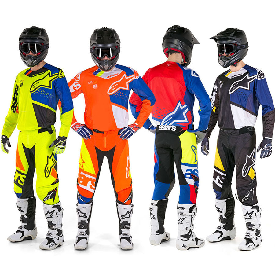 ALPINESTARS 2018 TECHSTAR FACTORY PANT BLUE/RED/WHITE/FLURO YELLOW