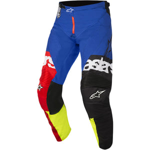 ALPINESTARS 2018 RACER FLAGSHIP PANT RED/FLURO YELLOW/BLUE (SIZE: 36)