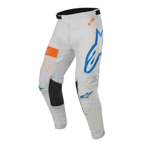 ALPINESTARS 2019 RACER TECH ATOMIC PANTS COOL GREY/MID BLUE/FLURO ORANGE