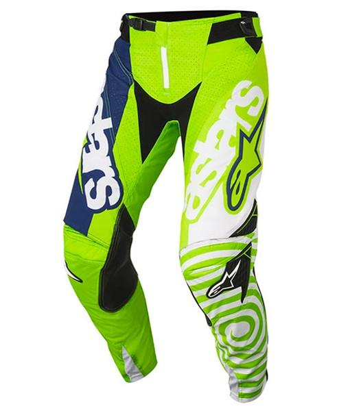ALPINESTARS 2018 YOUTH RACER VENOM PANTS FLURO GREEN/WHITE/DARK BLUE