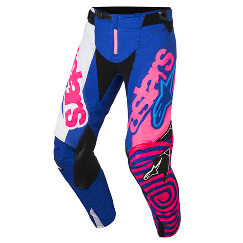 ALPINESTARS 2018 YOUTH RACER VENOM PANTS BLUE/FLURO PINK/WHITE