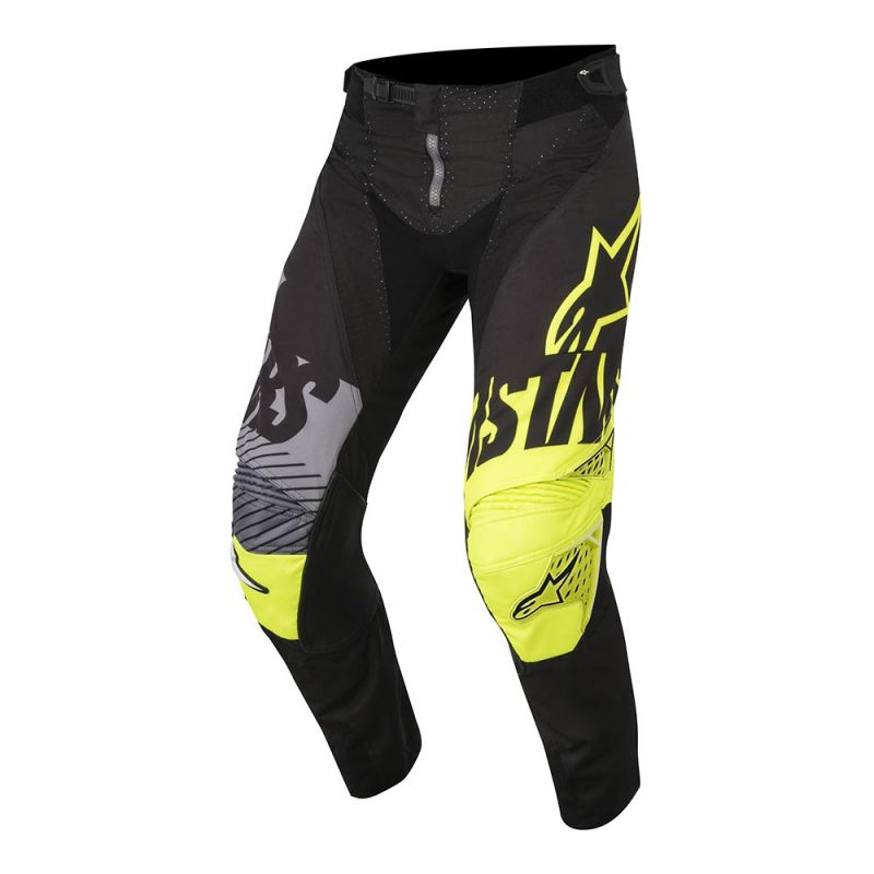 ALPINESTARS 2018 YOUTH RACER SCREAMER PANTS BLACK/FLURO YELLOW/GREY
