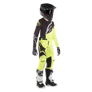 ALPINESTARS 2019 YOUTH RACER FACTORY PANT BLACK/FLURO YELLOW