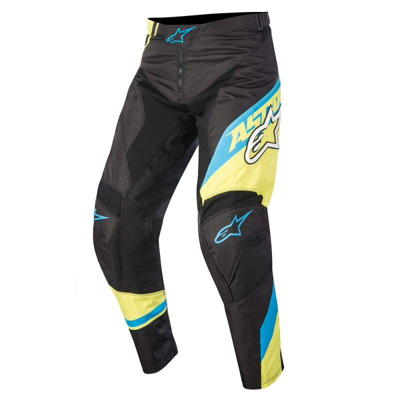 ALPINESTARS 2016 YOUTH RACER SUPERMATIC PANT BLACK/BLUE/YELLOW (SIZE: 22)