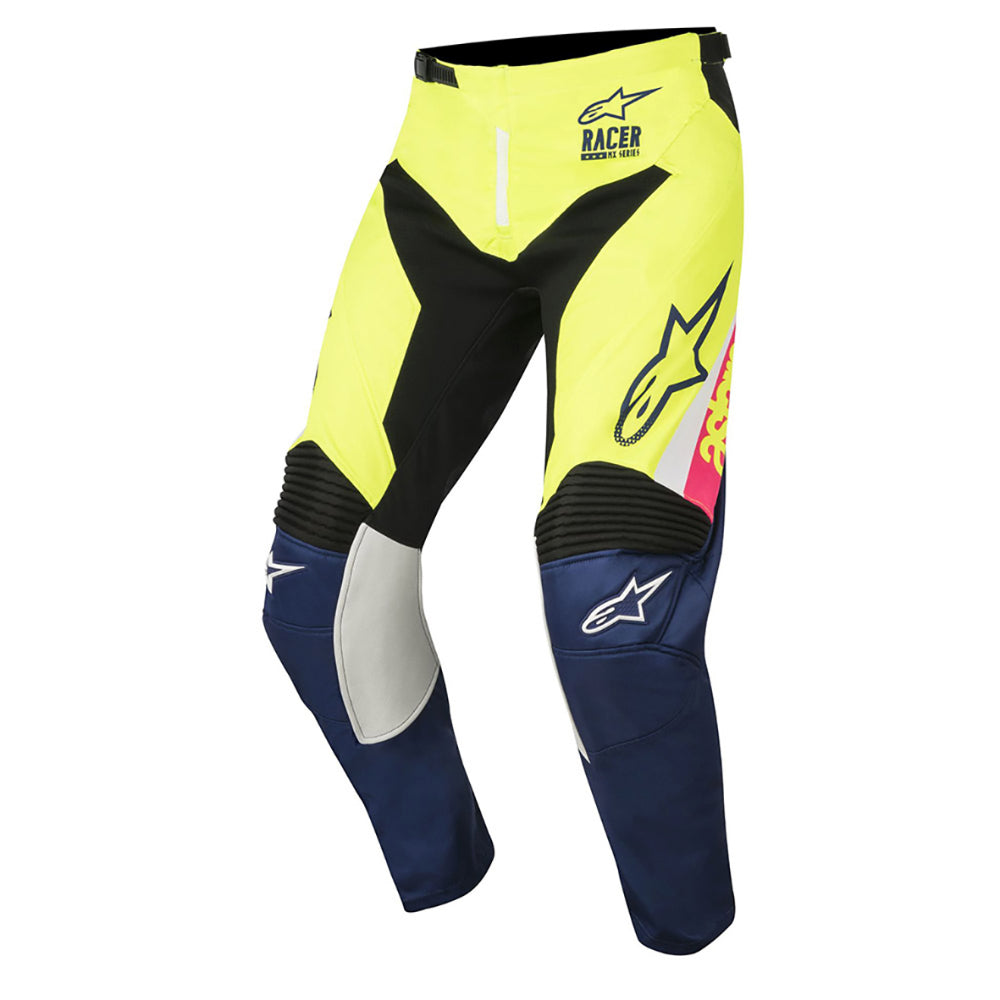 ALPINESTARS 2018 YOUTH RACER SUPERMATIC PANT WHITE/DARK BLUE/FLURO YELLOW