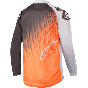 ALPINESTARS 2019 YOUTH RACER SUPERMATIC JERSEY LIGHT GREY/FLURO ORANGE