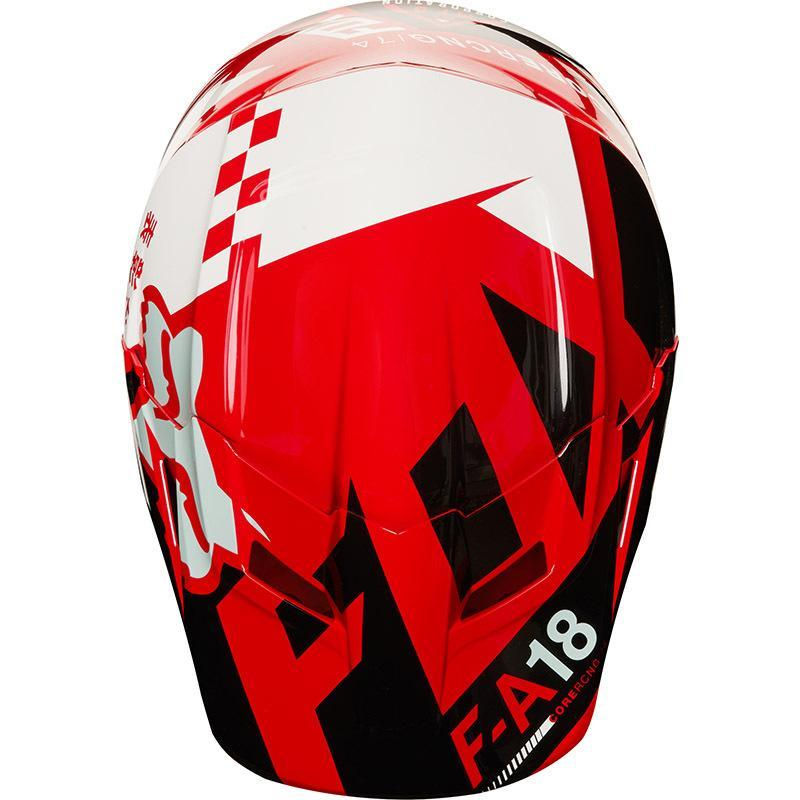 FOX V1 SAYAK RED YOUTH HELMET (SIZE: YOUTH SMALL)