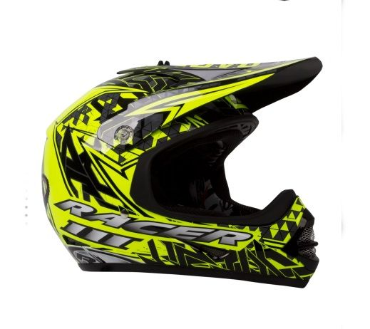 RXT RACER 3 JUNIOR MX YELLOW/BLACK HELMET (SIZE: MEDIUM)
