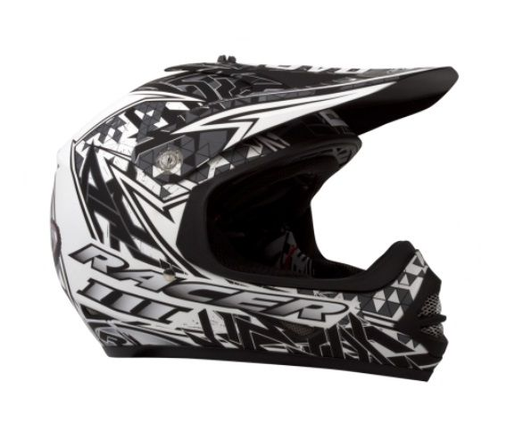 RXT RACER 3 JUNIOR MX WHITE/BLACK MATT HELMET