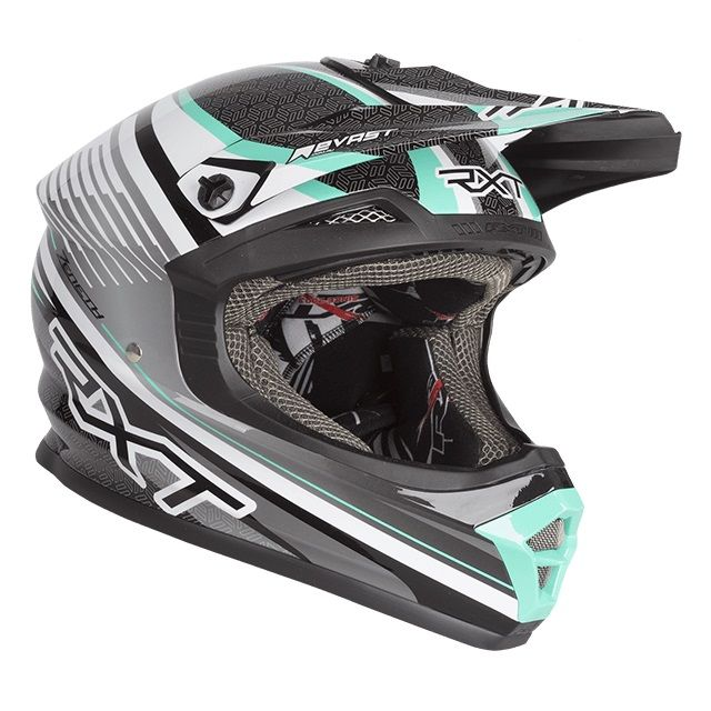 RXT ZENETH II BLACK/WHITE/TEAL HELMET (SIZE: MEDIUM)