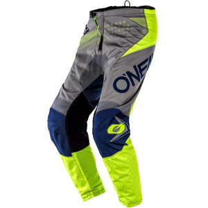 ONEAL YOUTH ELEMENT FACTOR GREY/BLUE/YELLOW PANTS (SIZE: 28)