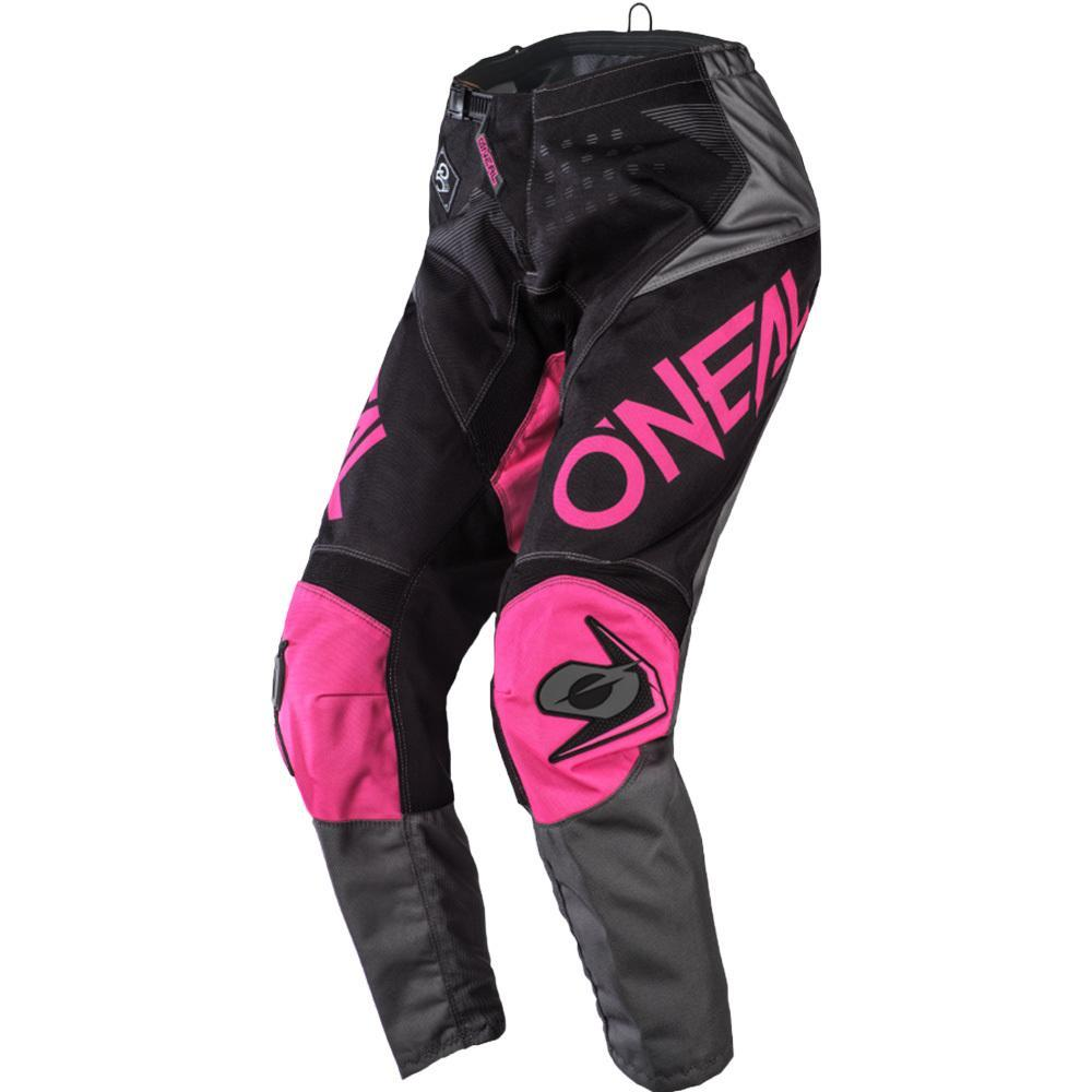 ONEAL ELEMENT FACTOR BLACK/PINK WOMENS PANTS (SIZE: 13/14)