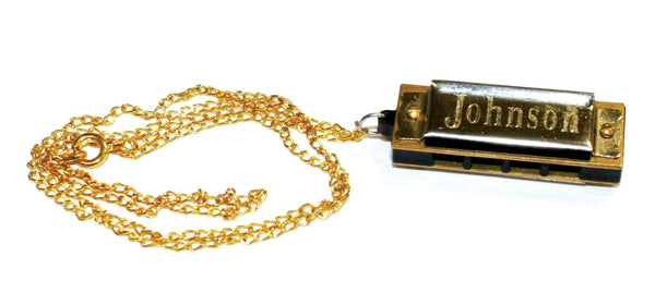 Johnson Mini Harmonica Necklace
