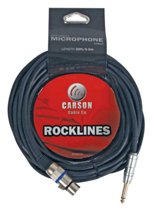 "Carson Rocklines  20' XLR-1/4"" Cable (ROM20H)"