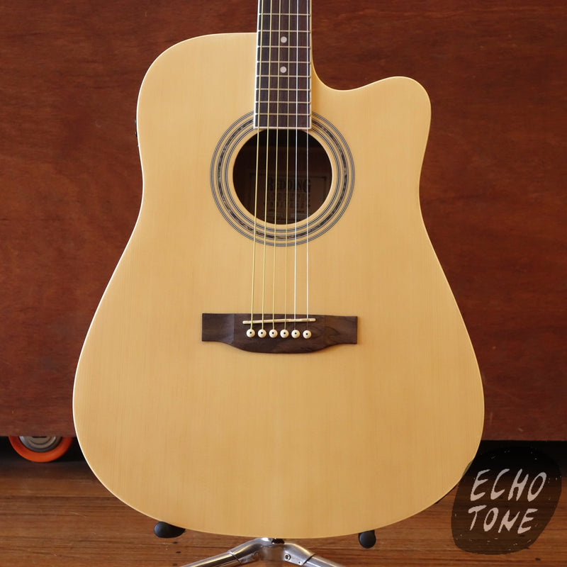 Redding Dreadnought Acoustic Electric Guitar - Natural Satin (RED60CENS)