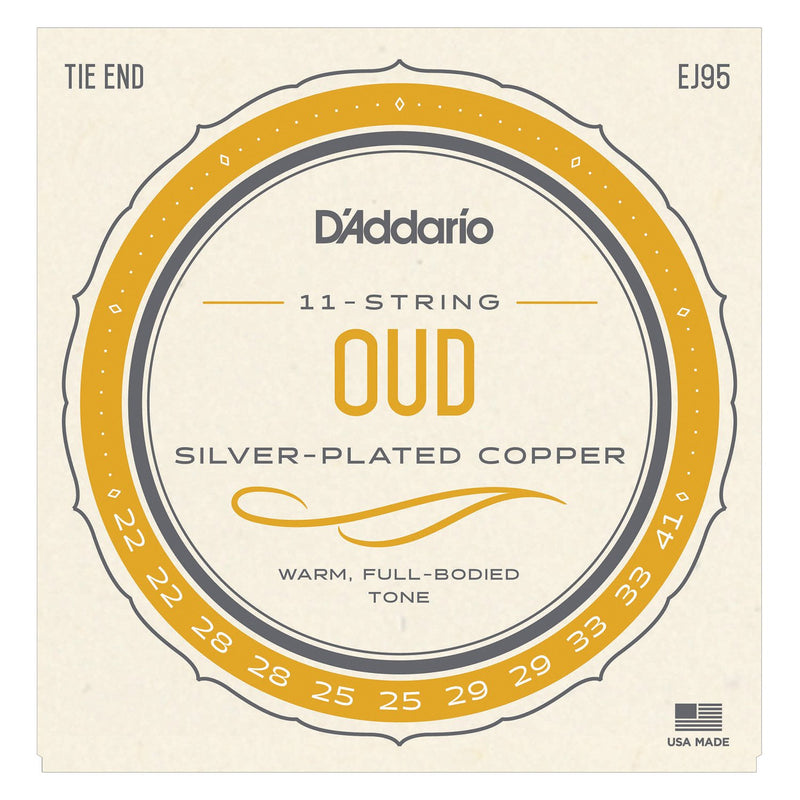 D'Addario EJ95 Oud Silverwound Nylon Strings