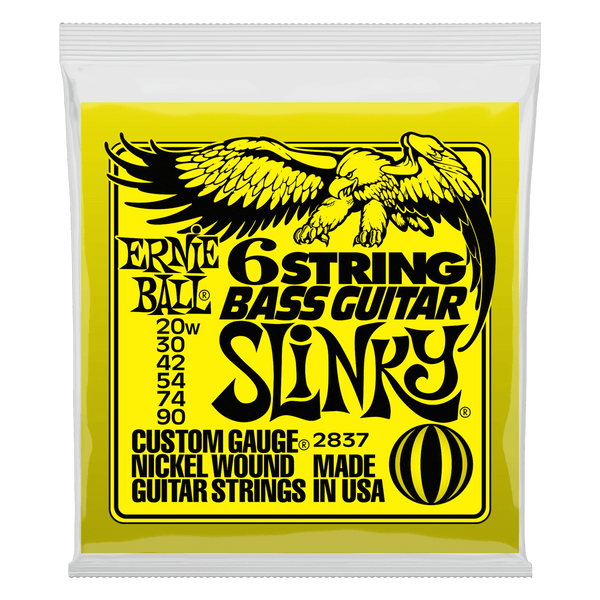 Ernie Ball Slinky Nickel Wound 6-String Baritone / Bass VI Strings (20-90)