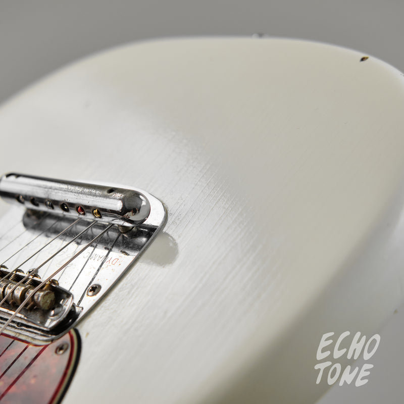 1965 Fender Mustang (L Series, Refin Olympic White, OHSC)