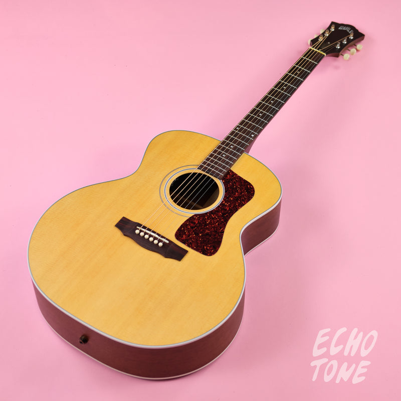 Guild F-40E Jumbo Acoustic (Natural Satin, LR Baggs Pickup, HSC)