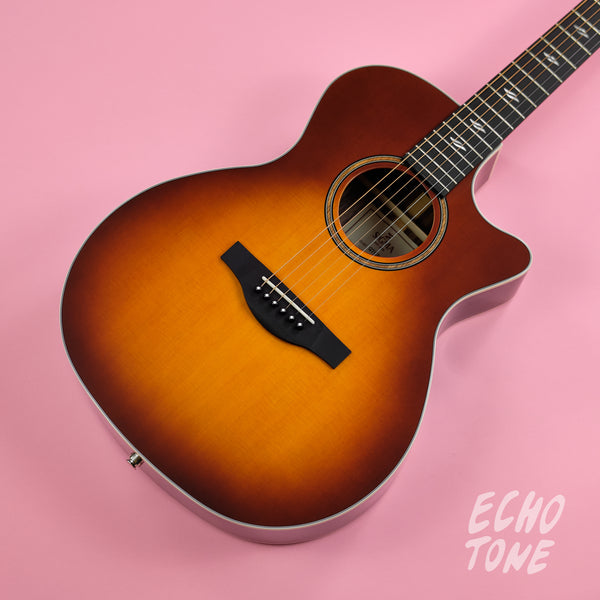 Sigma GTCE-2-SB Grand OM Acoustic Guitar (Pickup, Cutaway, Sunburst)