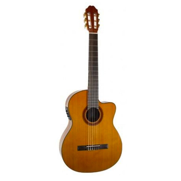 Katoh MCG40CEQ Classical Guitar (Cutaway, Pickup, Natural Gloss)