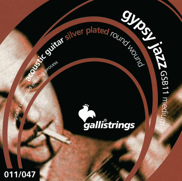 Galli Gypsy Jazz Guitar Strings - Coated, Silver Plated (GSB11)