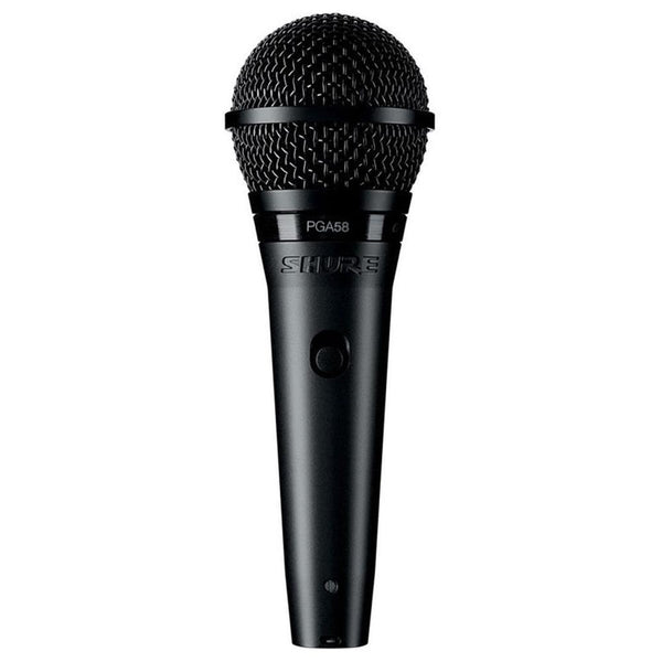 Shure PGA58 Cardioid Dynamic Vocal Microphone (XLR Cable Included)
