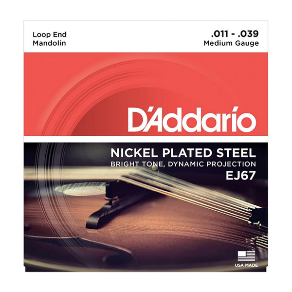 EJ67 D'Addario Nickel Mandolin Strings