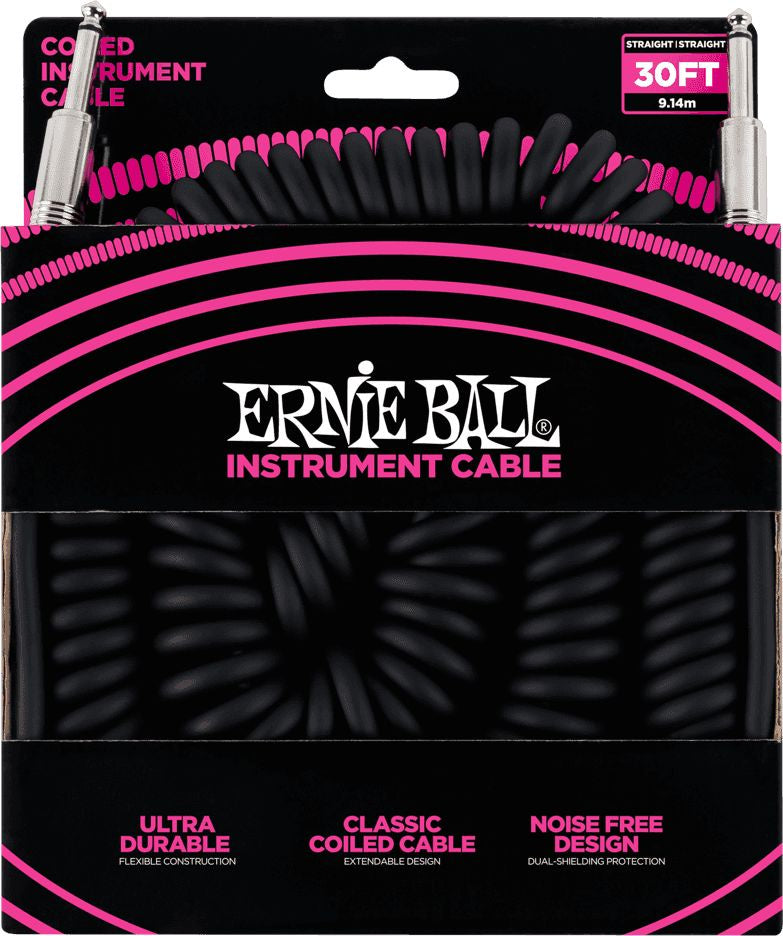 Ernie Ball 30' (10m) Coiled Instrument  Cable