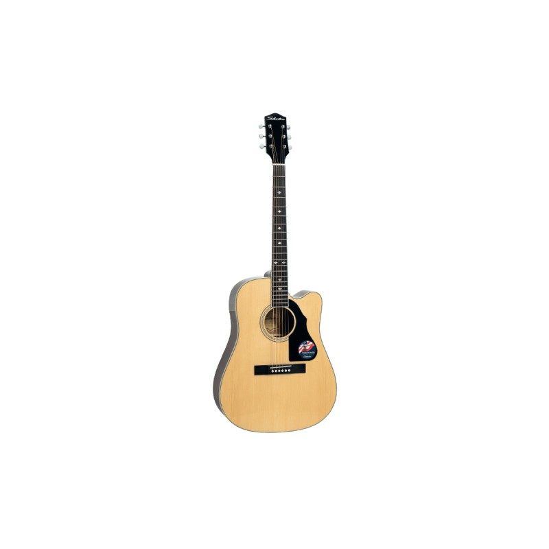 Silvertone 710 Series Dreadnought w Solid Spruce Top (Natural Gloss)