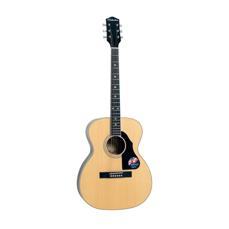 Silvertone 716NA Orchestra Model Acoustic Guitar w Solid Spruce Top - Natural Gloss