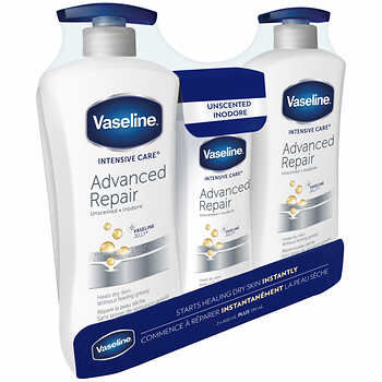 Vaseline Lotion Inodore 2 x 600 ml et 1 x 295 ml - Chronomarketguinee