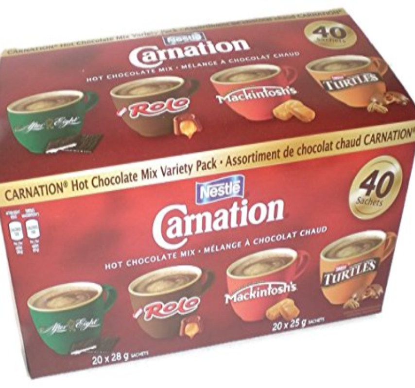 Chocolat chaud 4 assortiments CARNATION - Chronomarketguinee