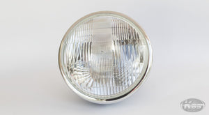 Daytona Vintage Headlight - Black with Chrome Rim