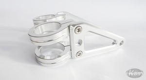 Posh Machined Horizontal Long Stay Headlight Bracket - Silver