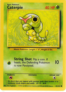 Caterpie 45/102 Base Set Unlimited Common