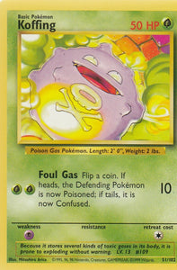 Koffing 51/102 Base Set Unlimited Common