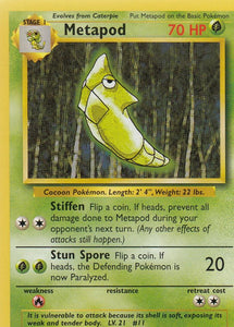 Metapod 54/102 Base Set Unlimited Common