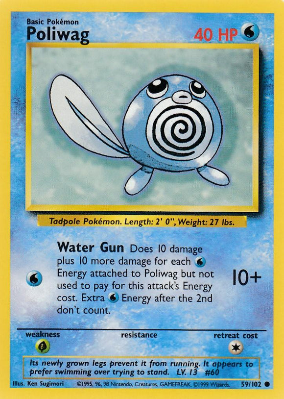 Poliwag 59/102 Base Set Unlimited Common