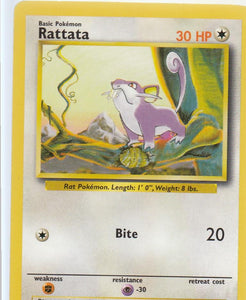 Rattata 61/102 Base Set Unlimited Common