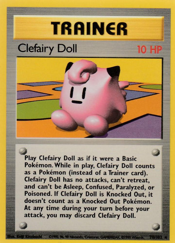 Clefairy Doll 70/102 Base Set Unlimited Rare