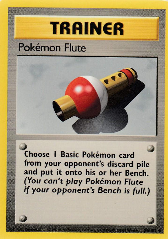 Pokemon Flute 86/102 Base Set Unlimited Uncommon